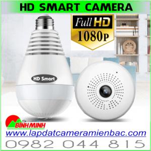 Camera Ngụy Trang Bóng Đèn. IP WiFi 360 HD Smart