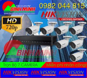 Lắp đặt Trọn Bộ 7 Mắt Camera Hikvision Chuẩn HD