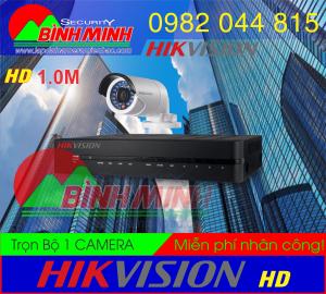 Lắp Đặt Trọn Bộ 1 Mắt Camera Chuẩn HD HikVision