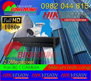 Bộ 1 Mắt Camera Hikvision 2.0M. Full HD 1080P