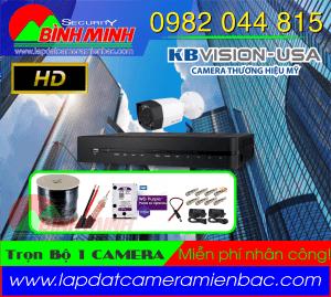 Lắp Đặt Trọn Bộ 1 Mắt Camera KBVision Chuẩn HD.720P. Đồng loạt giảm giá
