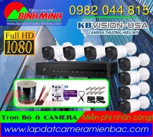Trọn bộ 8 mắt Camera KBVision 2.0M Full HD 1080p