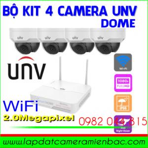 Ưu Đãi Giảm Giá Bộ Kit Camera 4 Mắt IP Dome UNV 2.0M