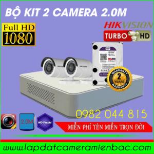 Duy Nhất Bộ Kit 2 Mắt Camera HikVision 2.0M Giảm giá !