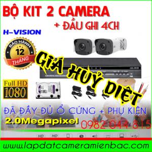 Giá Huỷ Diệt Bộ Kit 2 Mắt Camera H-Vision