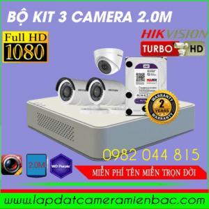 Ưu Đãi Giảm Giá Bộ Kit 3 Mắt Camera HikVision 2.0M