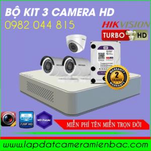Khuyến Mãi Giảm Giá Bộ Kit 3 Mắt Camera HikVision HD