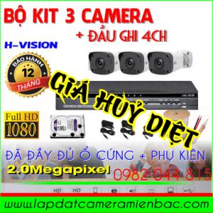 Siêu khuyến mãi Bộ Kit 3 Mắt Camera H-Vision