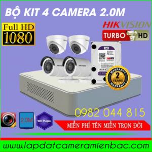 Ưu Đãi Giảm giá Bộ Kit 4 Mắt Camera HikVision 2.0M