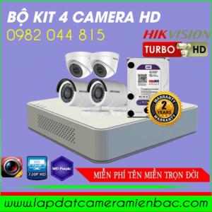 Siêu Khuyến Mãi Bộ Kit 4 Mắt Camera HikVision HD