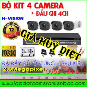 Giá Huỷ Diệt Bộ Kit 4 Mắt Camera H-Vision