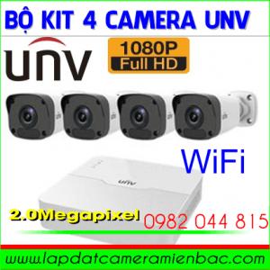 Ưu Đãi Bộ Kit 4 Mắt Camera UNV Thân Trụ 2.0M