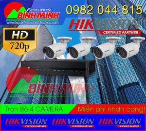 Lắp Đặt Trọn Bộ 4 Mắt Camera Chuẩn HD HikVision