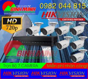 Lắp Đặt Trọn Bộ 7 Mắt Camera Chuẩn HD HikVision