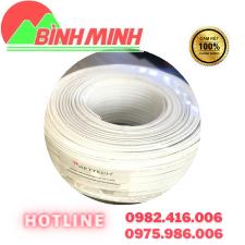 Thông số kĩ thuật  - Lõi đồng trục: cấu tạo từ thép mạ đồng đường kính 0.81mm - Lớp cách điện: Lớp các điện Polyethylene FPE là chất rắn màu trắng đục, được dùng để ngăn cách giữa lõi dây và các lớp bỏ vệ chống nhiễu. - Lớp chống nhiễu kép: cáp có 2 lớp chống nhiễu 1 lớp lá nhôm bên trong và 1 lưới sợi nhôm mạ đồng gồm 128 sợi bao bọc phía bên ngoài. - Lớp vỏ bảo vệ: lớp vỏ bọc bằng nhựa nhiệt dỏe PVC có tính năng chống cháy, làm tăng sự bảo vệ cho dây cáp và cho phép sợi cáp có tính dẻo dai, bền bỉ hơn. Cable đồng trục liền nguồn Viettech RG59+2C-VT8 - Độ dài: 200m - Chất liệu: CCA    LIÊN HỆ TƯ VẤN MIỄN PHÍ VÀ ĐẶT HÀNG – Công Ty TNHH Công Nghệ số Bình Minh – Địa chỉ : 277 Lương Thế Vinh, Nam Từ Liêm, Hà Nội – Hotline : 0975.986.006 – 0982.416.006