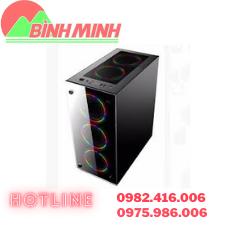 Thông số kĩ thuậtKích thước: 436 x 205 x 467(mm) Khay ổ: 3 HDD, 2 SSD Nguồn: ATX Hông mica trong suốt nhìn vào bên trong CPU, VGA, RAM, Main. Hỗ trợ Mainboard: Full Main Cổng kết nối: 2*USB2.0 + 1*USB 3.0 + HD Audio Gồm 3 Fan LED sườn 15 bóngLIÊN HỆ TƯ VẤN VÀ ĐẶT HÀNG:Công Ty TNHH Công Nghệ số Bình Minh Địa chỉ : 277 Lương Thế Vinh, Nam Từ Liêm, Hà Nội Hotline : 0975.986.006 - 0982.416.006